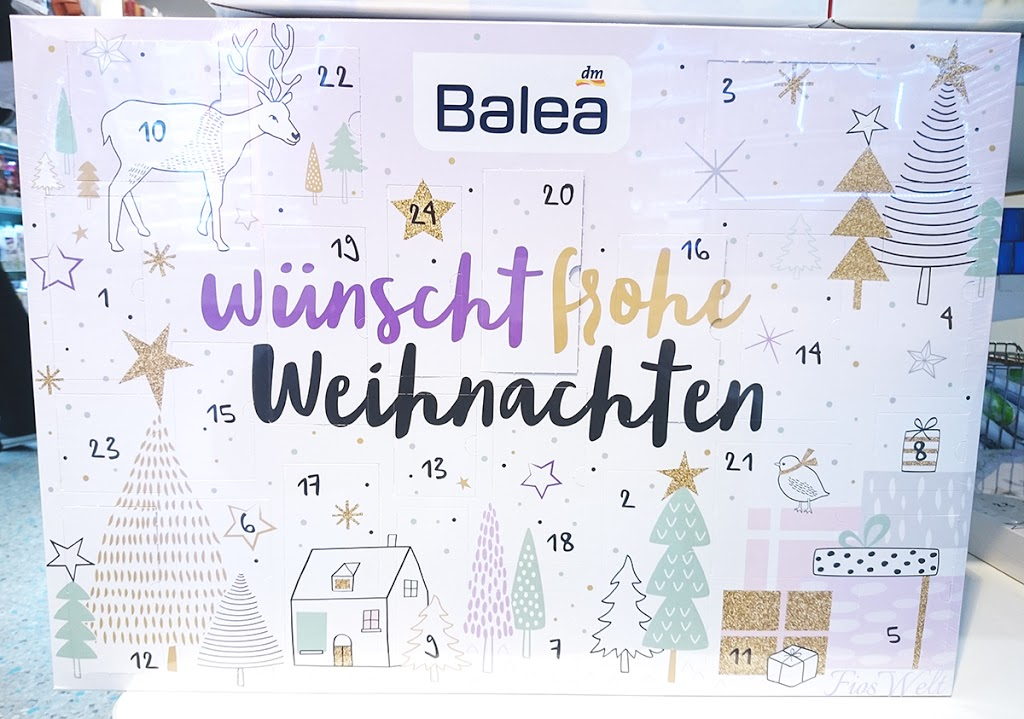 balea adventskalender 2016 inhalt fioswelt. Black Bedroom Furniture Sets. Home Design Ideas