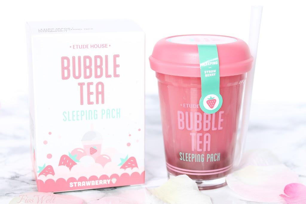 Etude House Bubble Tea Sleeping Pack - Strawberry