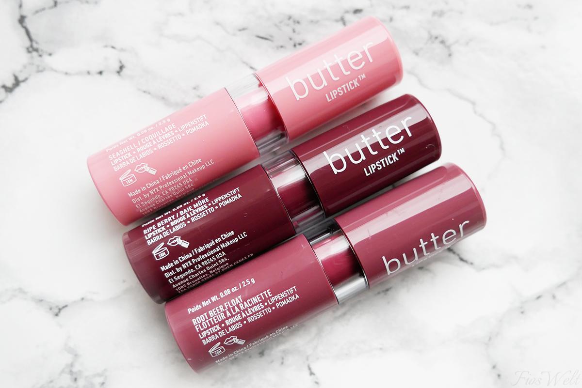 Inhalt NYX Adventskalender 2017 Butter Lipstick