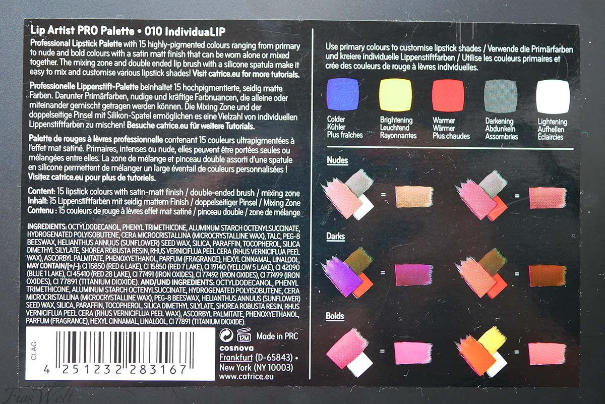 Lip Artist Pro Palette
