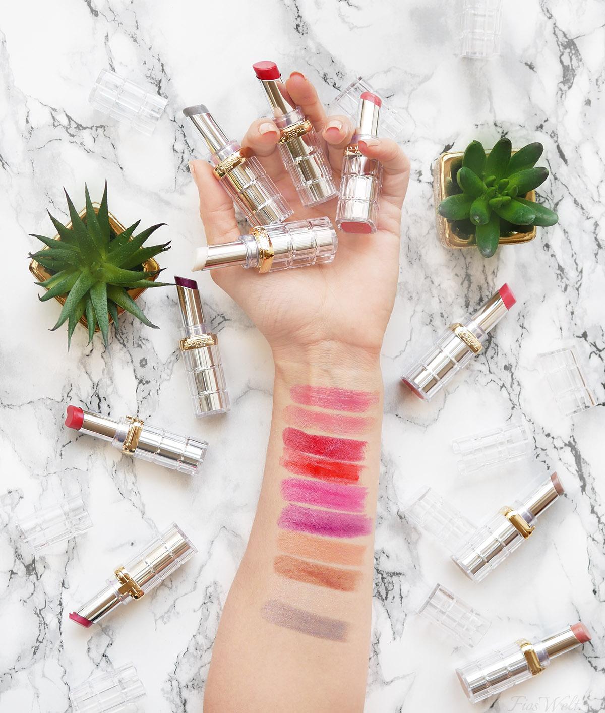 L'Oréal Color Riche Shine Lippenstifte Swatch