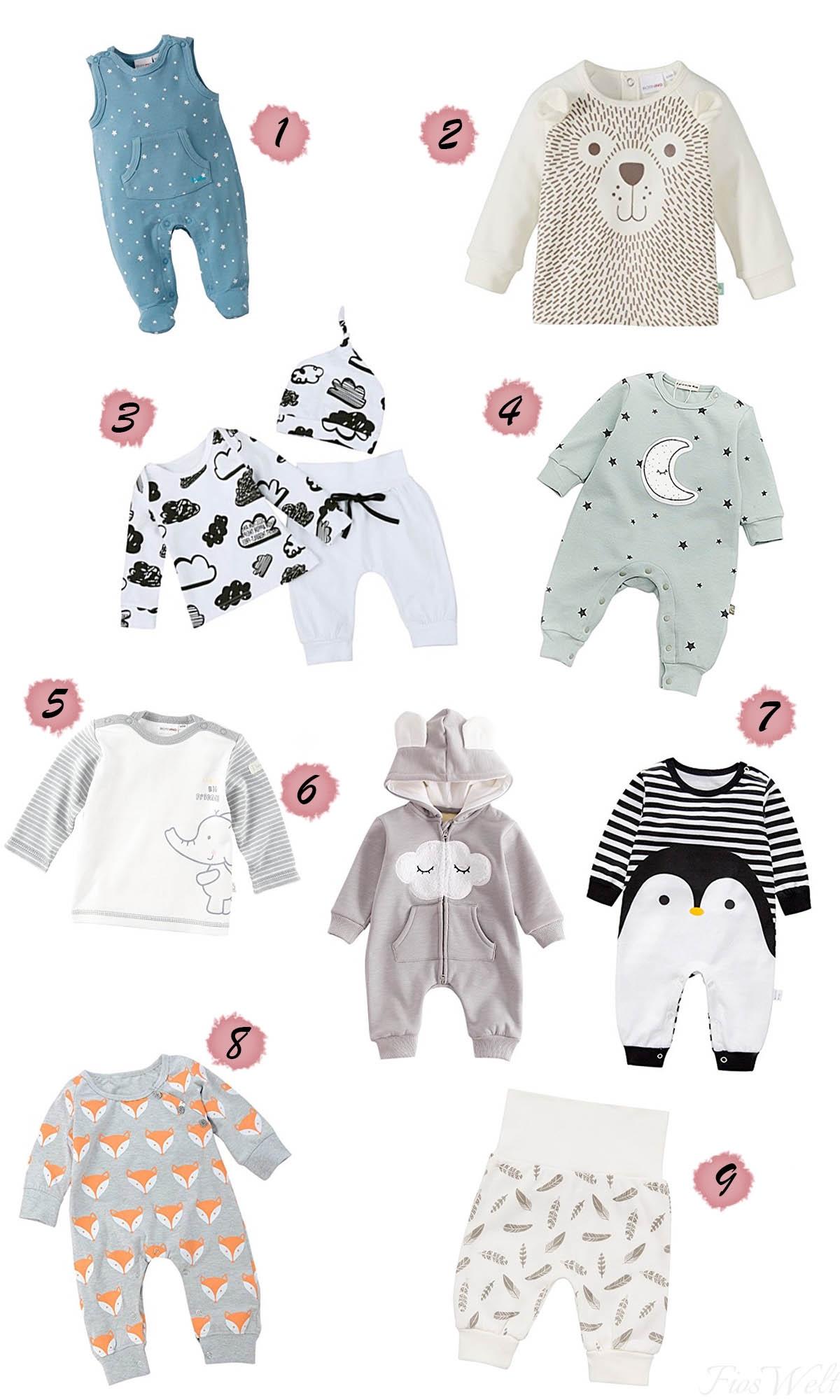 Neutrale Babykleidung Liste