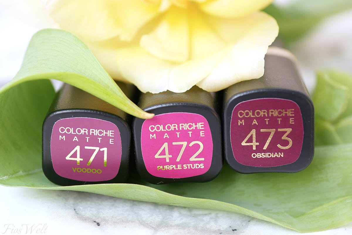 L'Oréal Color Rich Matte Magnetic Stones Farben