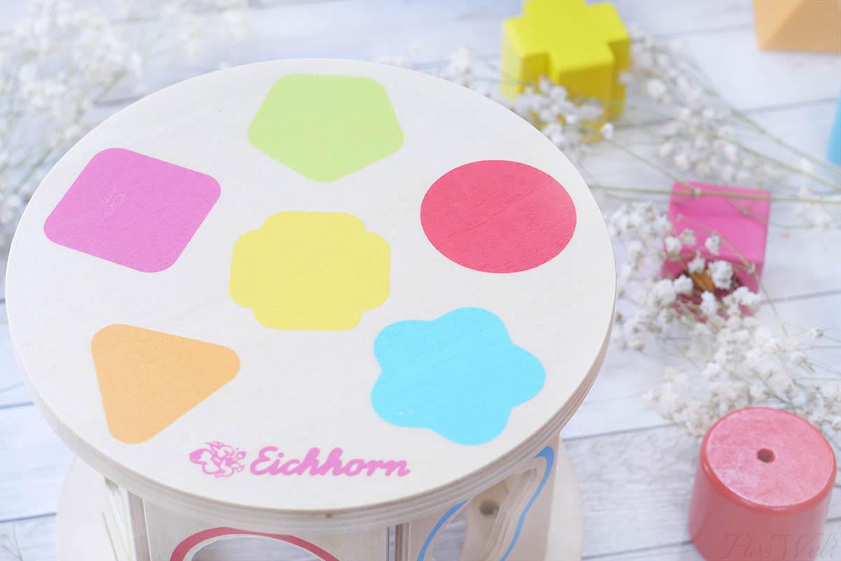 Eichhorn Steckspiel Rolle Formen
