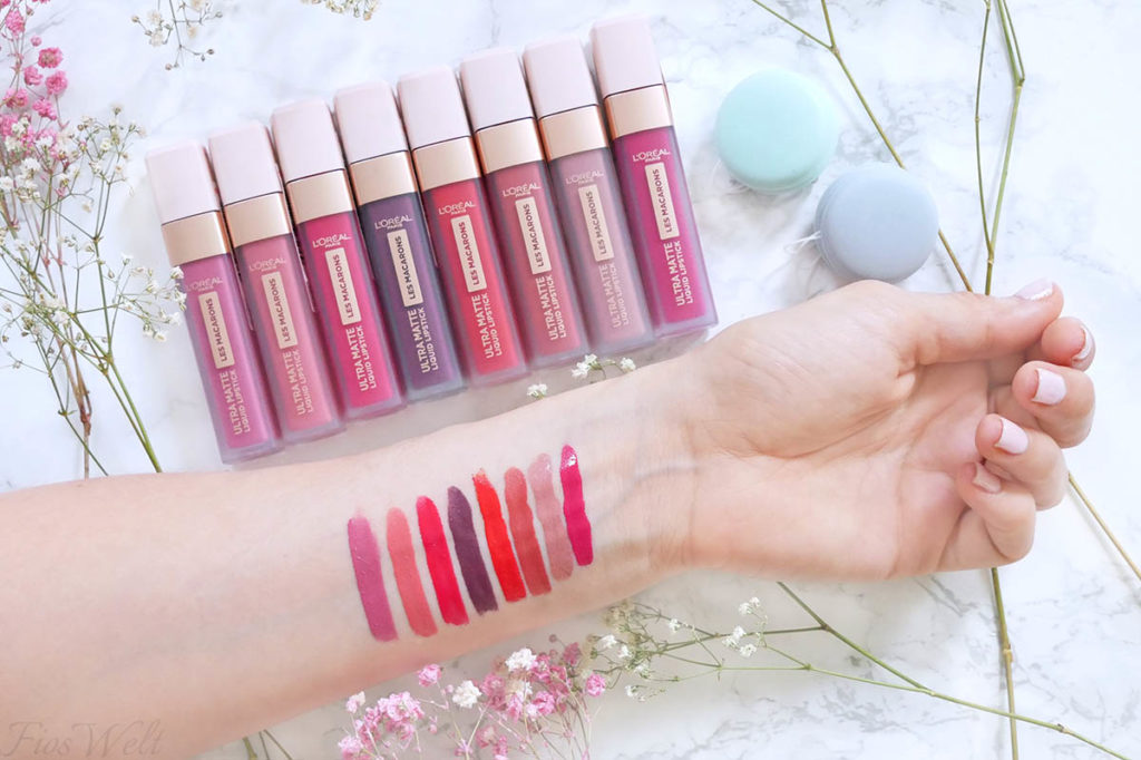 Loreal Les Macarons Swatches